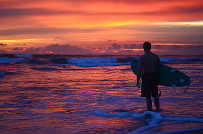 Photograph - Surfer Sunset Costa Rica by Art Atkins