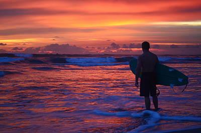 Photograph - Surfer Sunset Costa Rica by Art Atkins