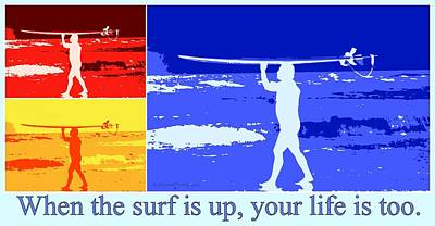 Photograph - Surfer - Surf's Up by Kip Krause