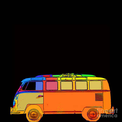 Hippy Photograph - Surfer Van by Edward Fielding