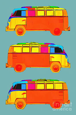 Namaste With Pixels Royalty Free Images - Surfer Vans Royalty-Free Image by Edward Fielding