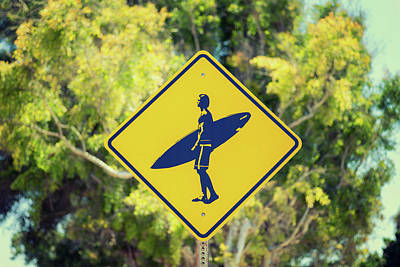 Summer Photograph - Surfer Xing 1 by Joseph S Giacalone