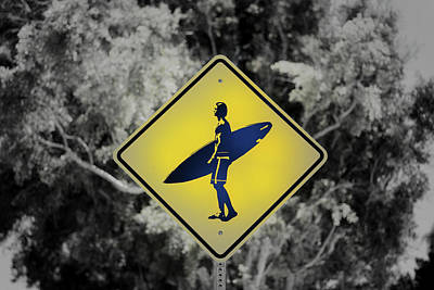 Photograph - Surfer Xing by Joseph S Giacalone
