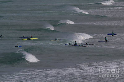 Photograph - Photographs Of Cornwall Surfers At Fistral by Brian Roscorla