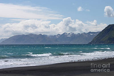 Kodiak Photograph - Surfer's Beach by Carolyn Brown