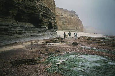 Photograph - Surfers By The Cliffs by Valerie Rosen