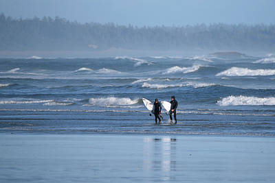 Photograph - Surfers Comin In by Keith Boone