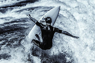 Surfing Magazine Photograph - Surfers Cross by Thomas Gartner