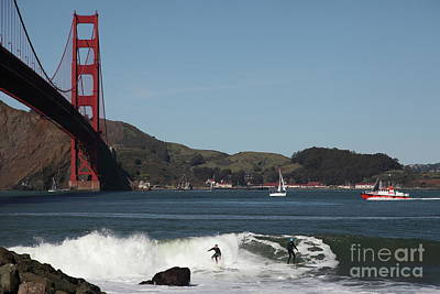 Photograph - Surfers Near The San Francisco Golden Gate Bridge 5d21664 by San Francisco Art and Photography