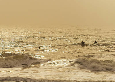 Photograph - Surfers On Folly Beach by Serge Skiba