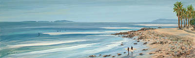 Surfers Point The Cove Art Print by Tina Obrien