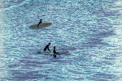Photograph - Surfers Ready by Bill Posner