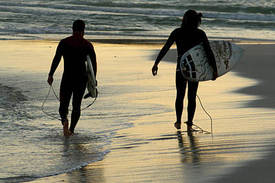 Unidentified Photograph - Surfers  by Stelios Kleanthous