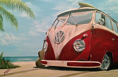 Painting - Surfin' by Branden Hochstetler