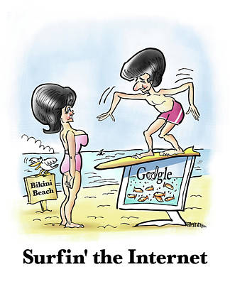 Digital Art - Surfin' The Internet by Mark Armstrong