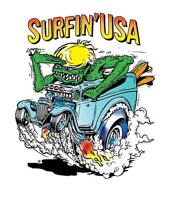 Painting - Surfin Usa by Gary Grayson