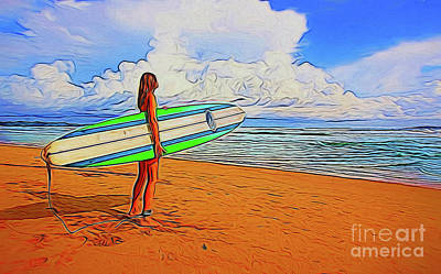 Photograph - Surfing 19518 by Ray Shrewsberry