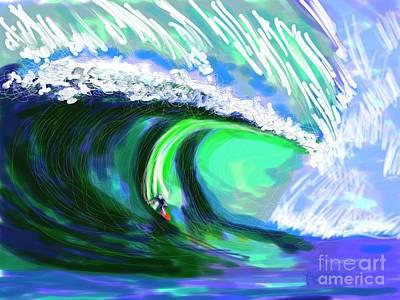 Sports Paintings - Surfing 82215 by Robert Yaeger