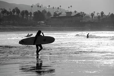 Photograph - Surfing At Ventura Beach by Dan Friend