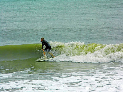 Photograph - Surfing At Wabasso by D Hackett