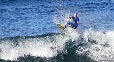 Photograph - Surfing Hard 01 by Kevin Chippindall