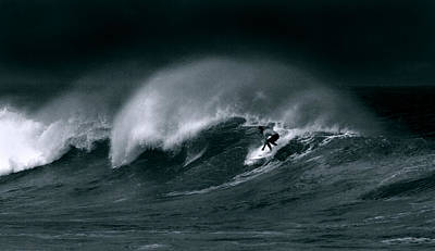 Photograph - Surfing In Heavy Wind And Tide by John Orsbun