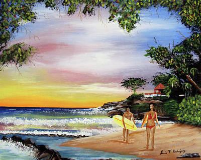 Surfing In Rincon Original by Luis F Rodriguez
