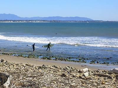 Surfing In Ventura Ca Art Print by Robin Hernandez