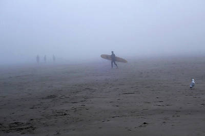 Photograph - Surfing Into The Fog Good Harbor Beach Gloucester Ma by Toby McGuire