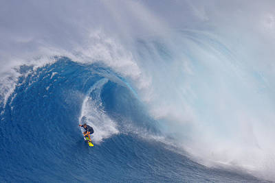 Surfer Photograph - Surfing Jaws by Peter Stahl