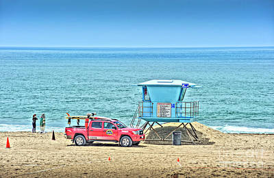 Photograph - Surfing Lifeguard  by David Zanzinger