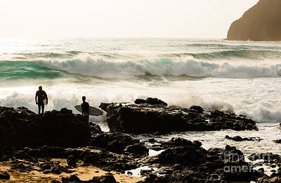 Photograph - Surfing Makapu Beach  by MaryJane Armstrong