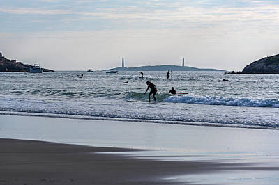 Photograph - Surfing On Good Harbor Beach Gloucester Ma Catching A Wave by Toby McGuire