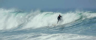 Photograph - Surfing On The Oregon Coast by Wes and Dotty Weber