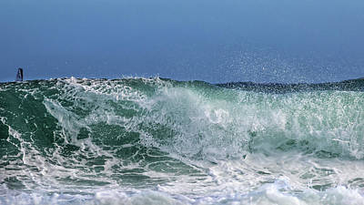 Athlete Photograph - Surfing Out  by Stelios Kleanthous