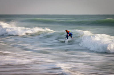 Intentional Camera Movement Photograph - Surfing Sebastian by R Scott Duncan