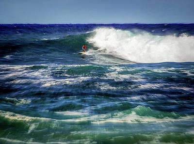 Haleiwa Photograph - Surfing Stamina by Karen Wiles