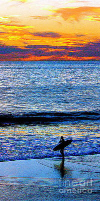 Surfing Sunset Original