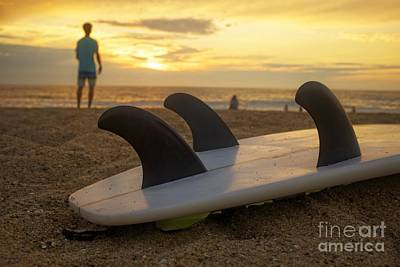 Photograph - Surfing Sunset by Edward Fielding