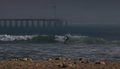 Photograph - Surfing The Pier by Michael Gordon