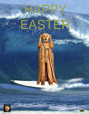 Surfing The Scream World Tour Happy Easter Art Print