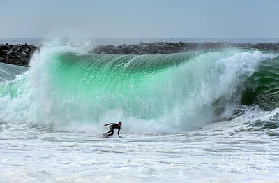 Photograph - Surfing The Wedge by Eddie Yerkish