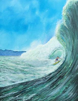 Painting - Surfing by Tony Rodriguez
