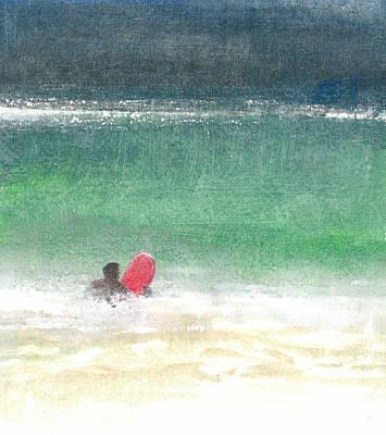 Surfing Two  Sri Lanka Art Print