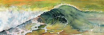 Painting - Surfing Watercolor Art by Melly Terpening