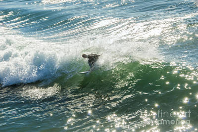 Photograph - Surfing Wave Manhattan Beach  by David Zanzinger