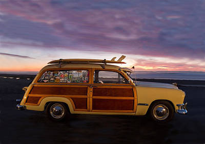 Photograph - Surfing Woodie Stationwagon by Sandi OReilly