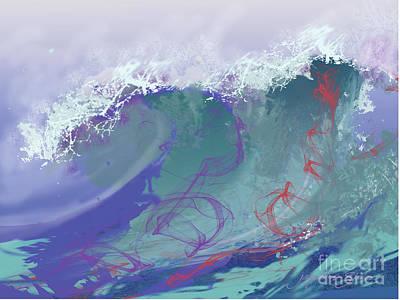 Digital Art - Surf's Up by Jacqueline Shuler