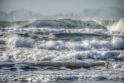 Coastal Landscape Photograph - Surf's Up by Kristina Rinell