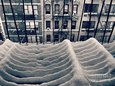 Photograph - Surfs Up New York - Winter In New York by Miriam Danar